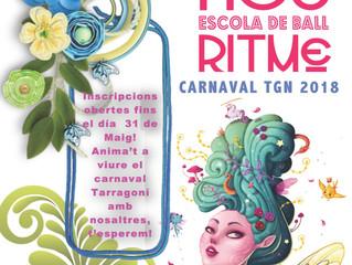 Inscripcions Carnaval 2018 fins al 31 de Maig!