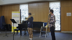 Doug with NZIBF trombone student