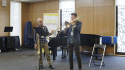 Matt with NZIBF trombone studnent