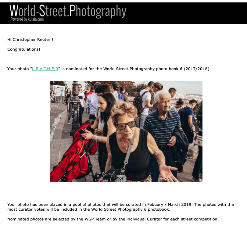 2 weitere Nominierungen für das World Street Photography Book 6