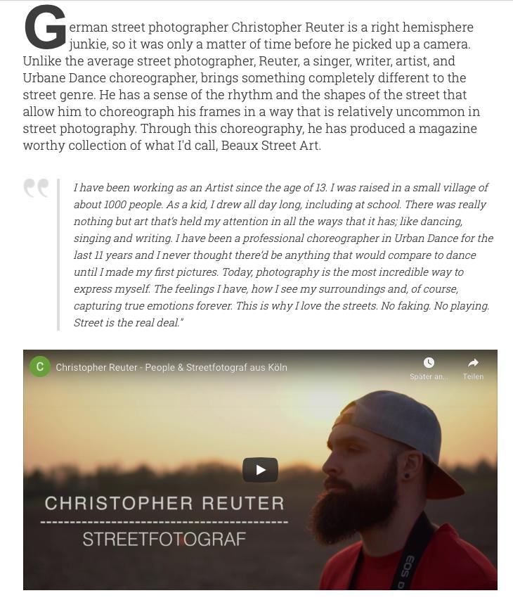 Interview mit WORLD STREET PHOTOGRAPHY.
