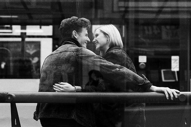 verliebtes Pärchen, glücklich miteinander