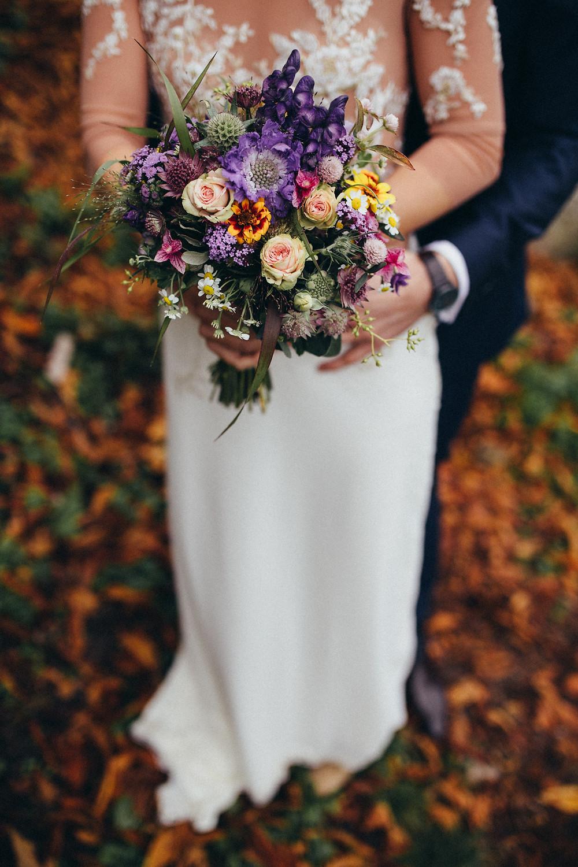 schöner Boho Hochzeitsstrauß