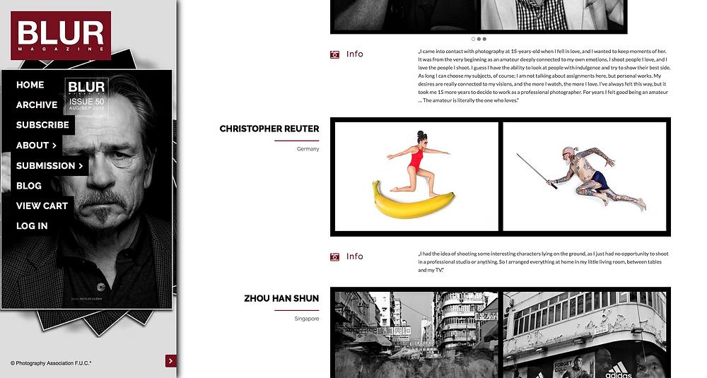 Blur Magazine - Christopher Reuter VON OBEN Fotostrecke in der Jubiläumsausgabe Nr 50