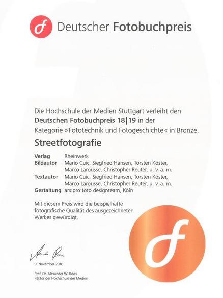 Deutscher Fotobuchpreis in Bronze für Streetfotografie - made in Germany!