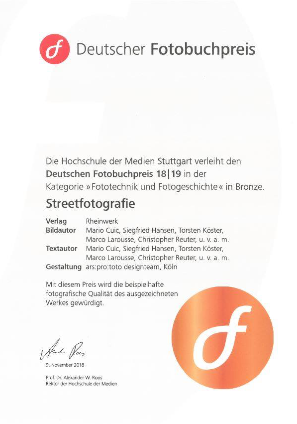 Deutscher Fotobuchpreis in Bronze für Streetfotografie - made in Germany!
