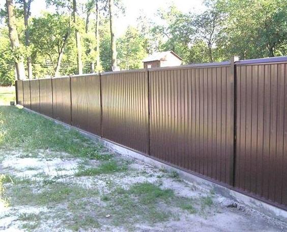 Забор купить из профнастила