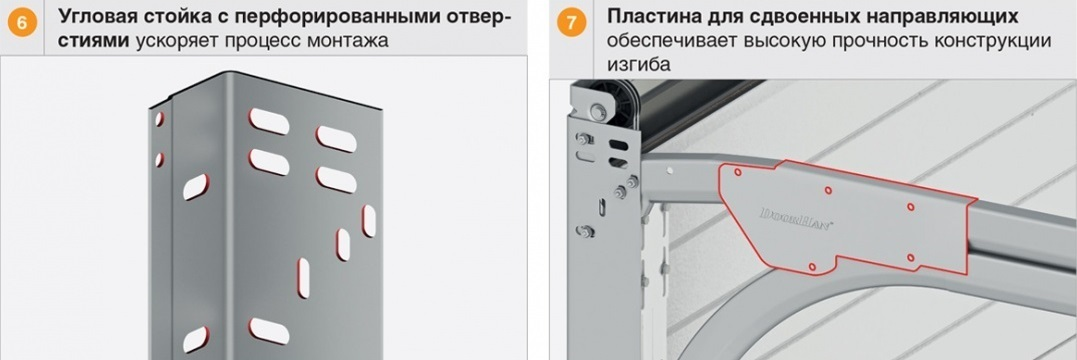Стойки, пластины ворот Дорхан RSD01