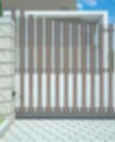 Откатные ворота Алютех дуга вверх/вниз