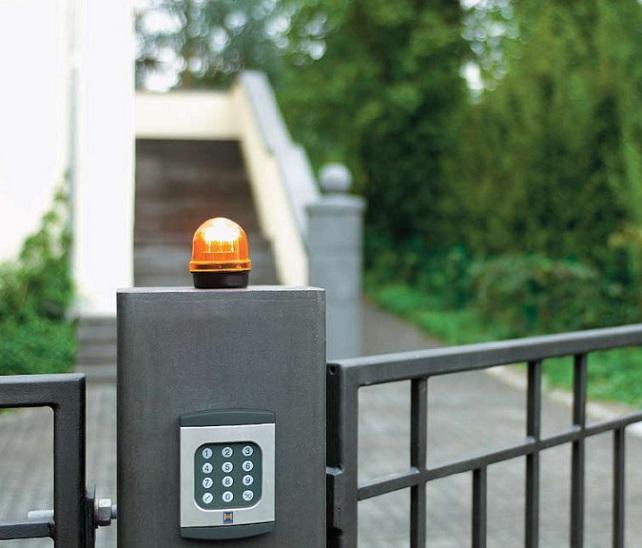 Сигнальная лампа для распашных ворот