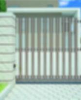 Откатные ворота Алютех в виде гребенки