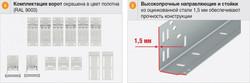 Комплектация секционных ворот RSD01
