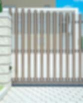 Откатные ворота Алютех скос в виде диагонали