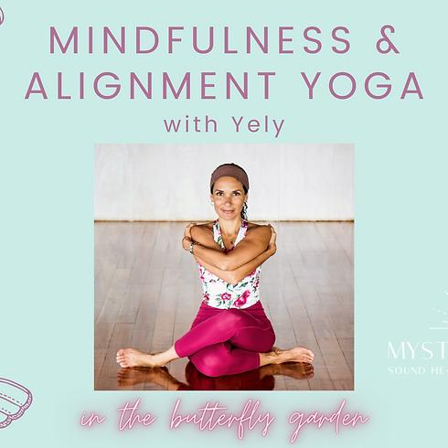 Mindfulness & Alignment Vinyasa Yoga - butterfly garden - July 29
