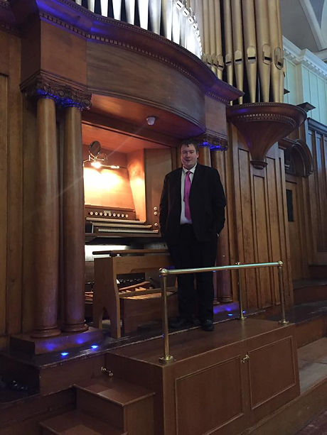Sam at Ayr Town Hall
