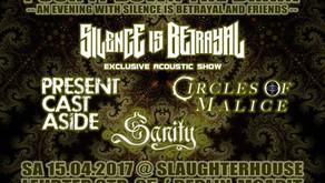 Sanity – Live in Concert! 15. April 2017 Slaughterhouse Berlin Moabit