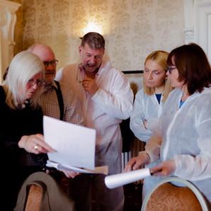 Delegates participating in a CSI game