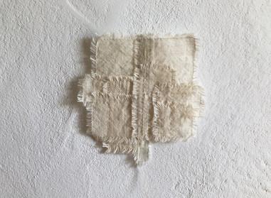 裏側の景色  yueni さんの繊維を一筋縫い付けて・・・