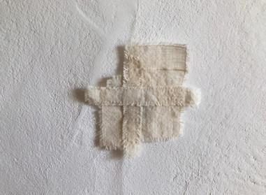 a piece of light  小さな布の欠片を縫い合わせてうまれた小さな布  小さないつかの景色  ◯  コースターとしてお使いもできます