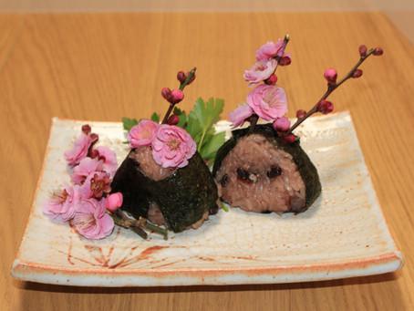 "Spring onigiri of Fukuoka has come"""
