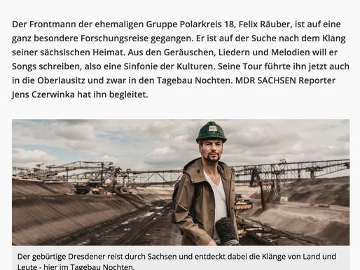 MDR berichtet über Tagebau-Dreh