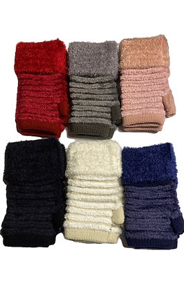 Fingerless Chenille Gloves