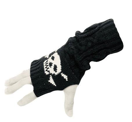 Skull Fingerless Gloves