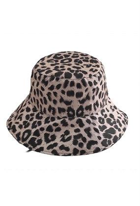 Leopard Pattern Double-Sided Bucket Hat Leopard/Black