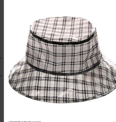 Plaid Bucket Rain Hat, Vinyl