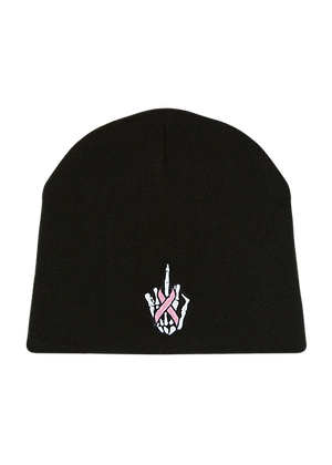 Skull Hat With Finger and Ribbon