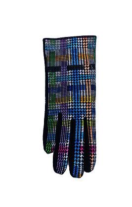 Black Suede Plaid Gloves
