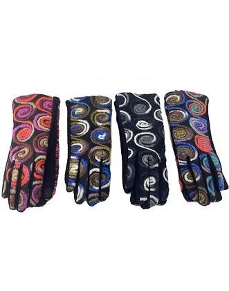 Yarn Top Swirl and Floral Tech Glove
