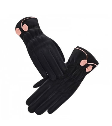 Little Bow-Tie Double Layered Gloves
