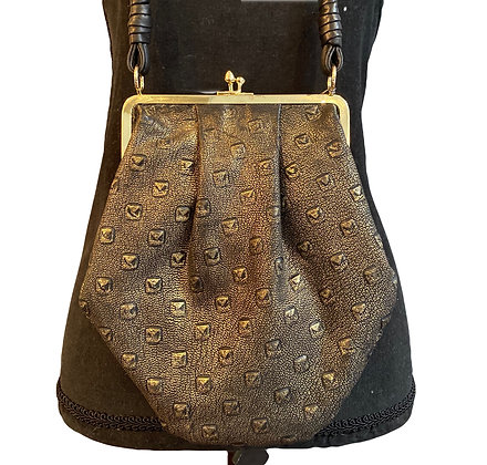 Bags By Viva Olive/Gold Leather