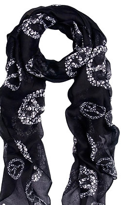 Peace and Skull Scarf