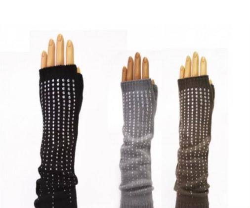 Stud Fingerless Gloves