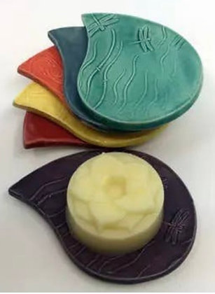 Lotus Flower Hand And Body Balm On Ceramic Dish