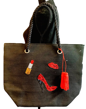 Lips and Shoes Tote