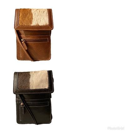 Mini Crossbody Leather Organizer Cowhide