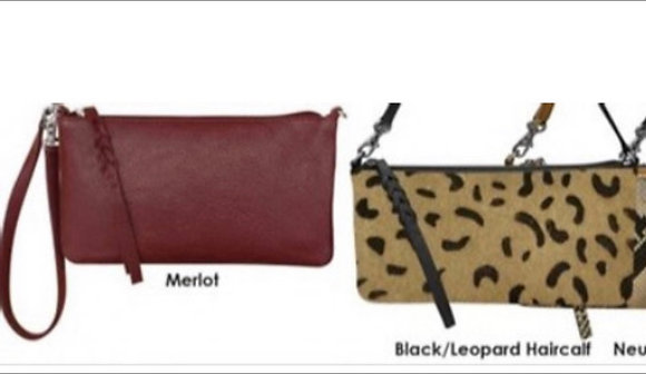 Convertible Baguette Leather Wristlet