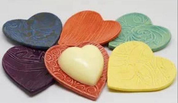 Heart Hand and Body Balm on Heart Dish