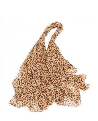 Sheer Cheetah Scarf