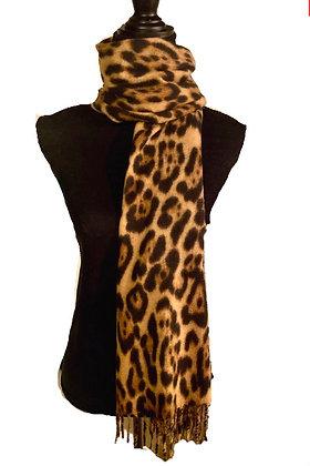 Super Soft Leopard Scarf with Fringe