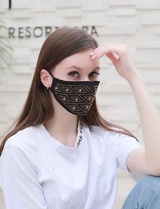 Black Blinged Out Mask