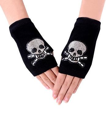 Rhinestone Skull Winter Arm Warmer-Short