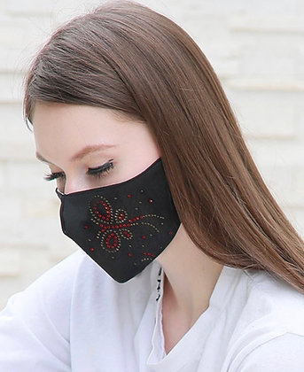 Black Bling Butterfly Mask