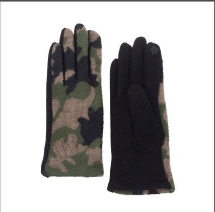 Camo Microfiber Tech Gloves