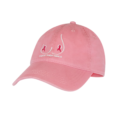 Pink Check Your Girls Baseball Hat