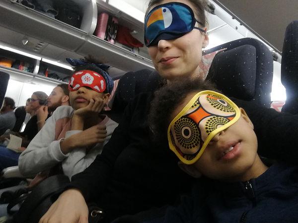dans l'avion !