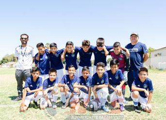 Un buen partido de Futbol, que vino de menos a mas entre los equipos PATRIA y TITANS